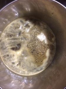 Boiling honey for Krupnikas